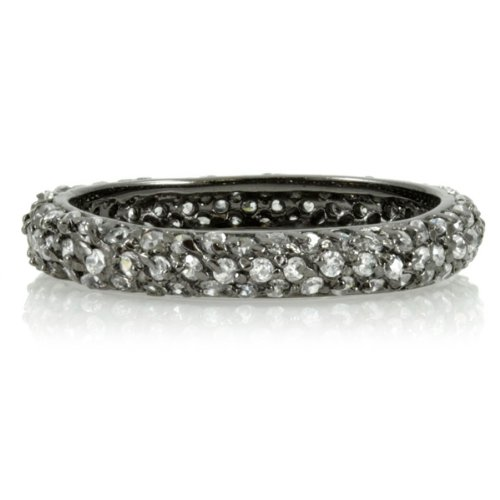 Carnaby's CZ Stackable Gunmetal Eternity Ring - Final Sale
