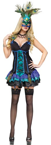 Midnight Peacock Adult Costume Xs 2-4 Adult Womens Costume - Funworld