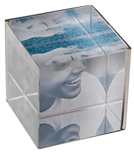 Umbra Ice 2.5-Inch-by-2.5-Inch Glass with Stainless Steel Cube Frame