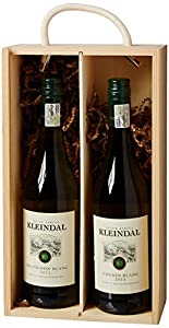 Kleindal Two bottle wine pack presented in Double Sliding Lid Wooden Box 75cl