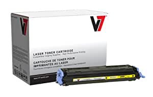 V7 V72600Y Replacement Toner Cartridge for HP Q6002A Toner