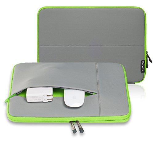 Runetz - 15-inch GRAY Neoprene Sleeve Case Cover for MacBook Pro 15.4