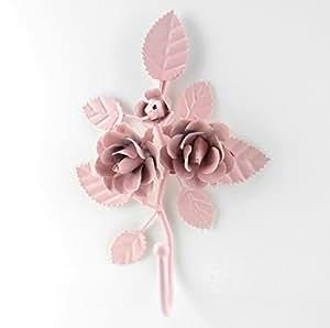 New Shabby Vintage Metal Rose Style Hanger ~ H65 Towel~Robe~Bath~Coat~Wall Hook