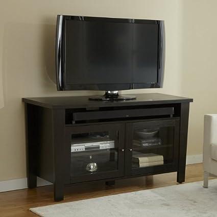 55 in. Modern TV Cabinet in Espresso Finish