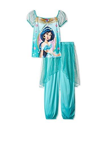 Disney Princess Jasmine Girls Fantasy Pajamas (6, Jasmine Multi) (Princess Jasmine Disney)