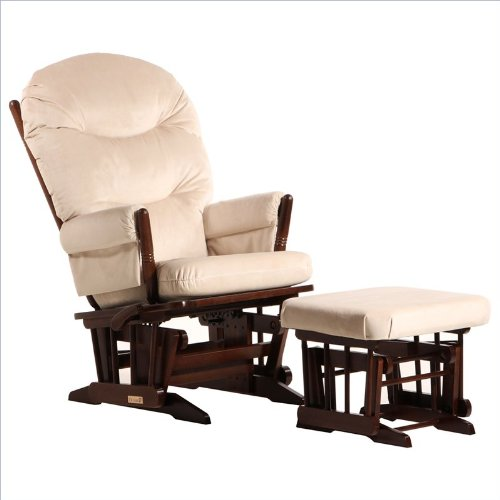 2 Post Glider - Multiposition, Recline & Ottoman Combo Coffee/Light Beige front-1054412