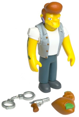 The Simpsons - 2001 - Playmates - Series 6 - Snake Action Figure - w/ Accessories - Intelli-Tronic Voice Activation - Out of Production - Limited Edition - Collectible - 1