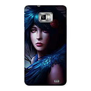 Gorgeous Crossed Angel Multicolor Back Case Cover for Galaxy S2