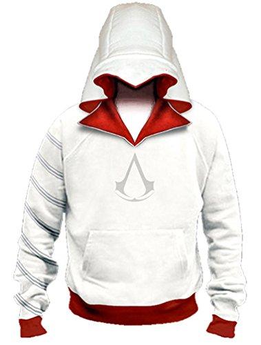 XYZcos Men's AC Costume Ezio Pullover Hoodie Jacket Sweatshirt Outwear Size M