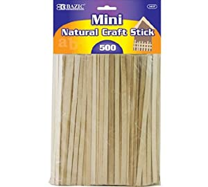 BAZIC Mini Natural Craft Sticks, Wood, 300 Per Pack