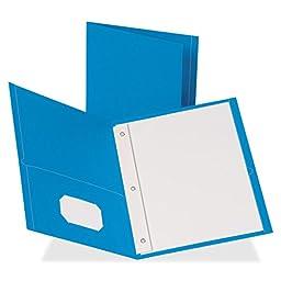 Business Source - 2-Pocket Folders, 100 Sh Cap, Ltr, 9-1/2\