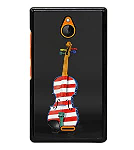 Vizagbeats Painted Violine Back Case Cover For Nokia Xl