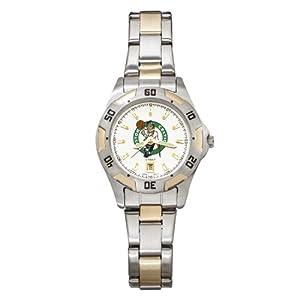 NBA Boston Celtics Ladies All-Pro Two-Tone Watch by Logo Art