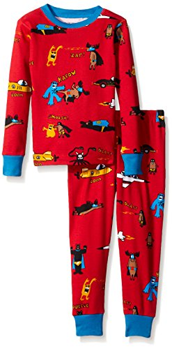 Little Blue House By Hatley Boys' Pajama Set-Super Heros (All Over Print)