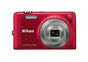 Nikon Coolpix S6700 Compact Digital Camera - Red (20.1MP, 10x Optical Zoom) 3.0 inch LCD