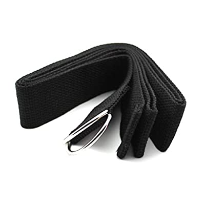 D-Ring Yoga Gurtband Band Taille Bein Übung Fitness Figur Props Bandage Band Schwarz
