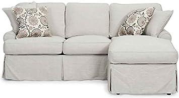 Horizon Sleeper Sofa & Chaise - Slip Cover Set Only - Light Gray