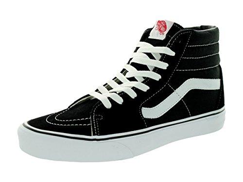 Vans Unisex Sk8-Hi Black/Black/White Skate Shoe 6.5 Men US / 8 Women US