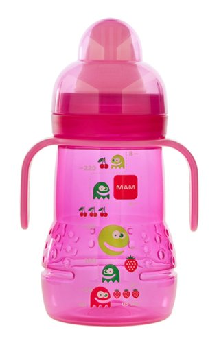 Mam Feeding Trainer With Handles, Pink, 8 Ounce front-784190