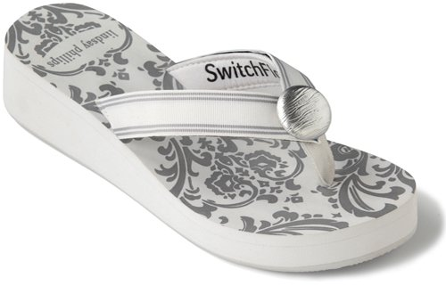 SwitchFlops TAYLOR WHITE WEDGE Switch Flip Flops