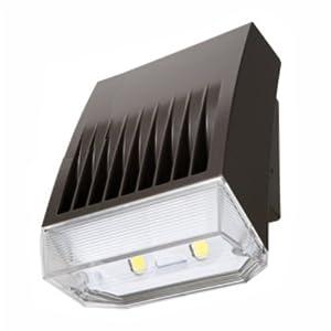 Lumark XTOR5ARL-PC1 Crosstour MAXX Wall Mount LED Light, 41W, Refractive Lens Door, 120-277V, 5000K, 120V Photo Control, Carbon Bronze