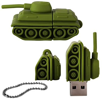 iGloo 8GB Novelty Army Tank Vehicle USB 2.0 Flash Drive Data Memory Stick Device - Green by iGloo