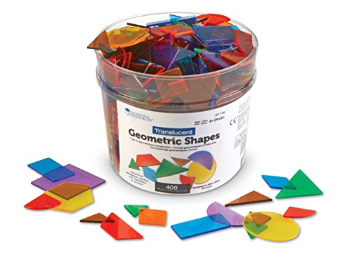 Learning Resources Translucent Geometric Shapes
