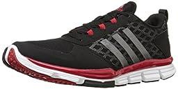 adidas Performance Men\'s Speed Trainer 2 Training Shoe, Black/Carbon Metallic/Power Red, 10.5 M US