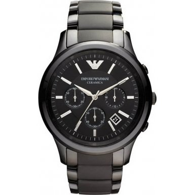 Emporio Armani AR1452 Mens Ceramica Black Watch