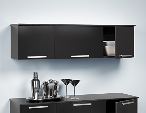 Black Coal Harbor Wall Mounted Hutch (Wall Cabinet Bar compare prices)