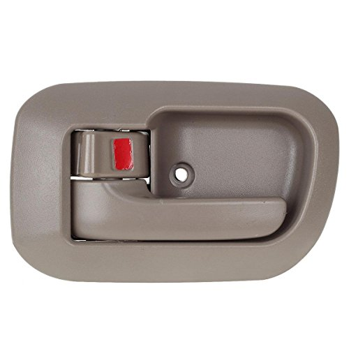 AUTEX 1pcs Inside Interior Inner Door Handle/Trim, Beige - Driver Side Front for 1998, 1999, 2000, 2001, 2002, 2003 Toyota Sienna (OE numbers: 6927808010-E0/80533)