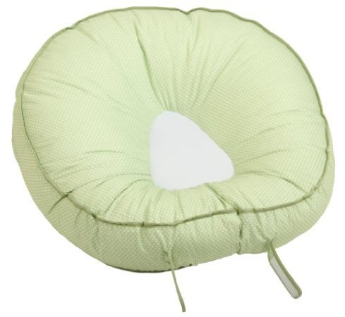 Leachco Podster Sling-Style Infant Seat Lounger, Sage Pin Dot back-974486