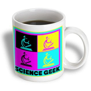 Mug_102397_2 Dooni Designs Cmyk Hipster Designs - Cmyk Pop Art Microscope Science Geek Design Cartoon - Mugs - 15Oz Mug