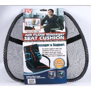 Mesh Lumbar Back Support For Office Chair Car Seat Etc Kitchen