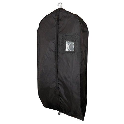 Hangerworld Housse vêtements imperméable en nylon Noir
