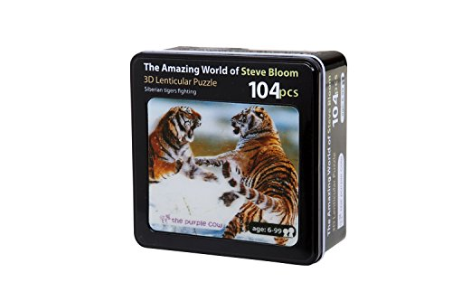 The Purple Cow Lenticular Siberian Tigers Fighting Puzzle