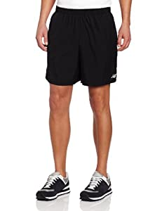 New Balance Men's 7-Inch Go 2 Shorts, Black/Magnet, X-Large