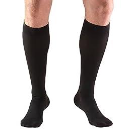 Truform 8845, Compression Stockings, Below Knee, Closed Toe, 30-40 mmhg, Black, Medium