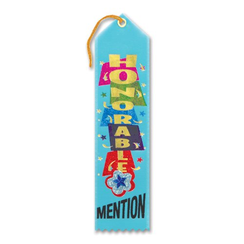 "Honorable Mention Jeweled Ribbon 2"" x 8"" Party Accessory - 1"
