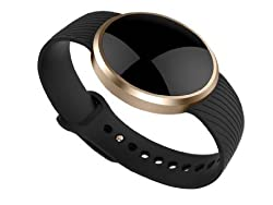 Pedometer Ronkoen L58 Smart Bluetooth Bracelet Wireless Fitness Pedometer Tracker Activity Tracker with Monitoring Calories Track Steps Counter Sleep for Sports Fitness -Black L58 Black
