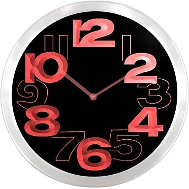 Nc0706 Big Words Neon Sign Led Wall Clock