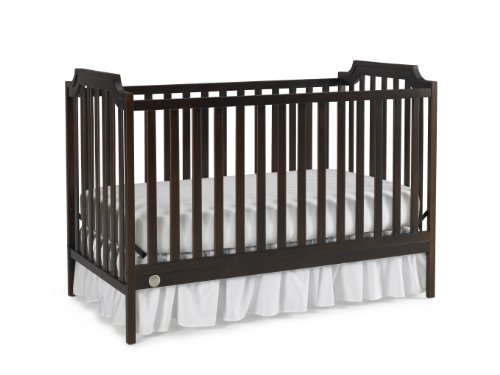 Fisher-Price Providence 3-in-1 Convertible Crib, Espresso - 1