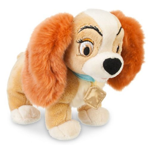 "Disney Store Lady and the Tramp - Lady Mini Bean Bag Plush Toy -- 7 1/2"" L"