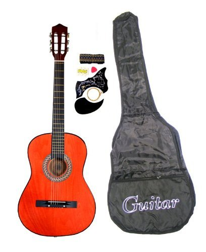 38-Inch-Student-Beginners-Dark-BROWN-Acoustic-Guitar-with-Carrying-Case-&-Accessories,-&-DirectlyCheap(TM)-Translucent...