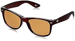 Buzz Wayfarer UV Protected Unisex Sunglasses (Brown) (BES-1037 COL103)