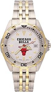 Chicago Bulls Mens All Star Watch Stainless Steel Bracelet by Logo Art