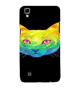 PrintVisa Cute Colorful Cat Design 3D Hard Polycarbonate Designer Back Case Cover for LG X Power