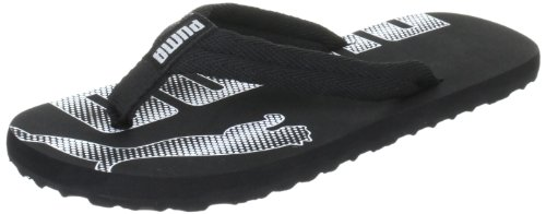 Puma Epic Flip Jr Flip-Flops Unisex-Child Black Schwarz (black-white 03) Size: 28