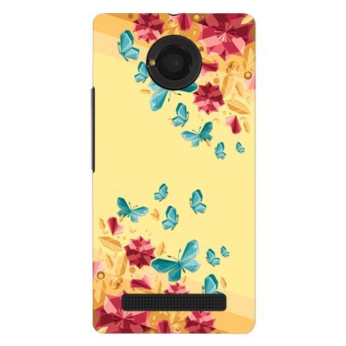 save off 26242 62a0b Kaira brand Designer Hard Back Case Cover for Micromax YU Yunique 4G  (Gemsbutterfly)