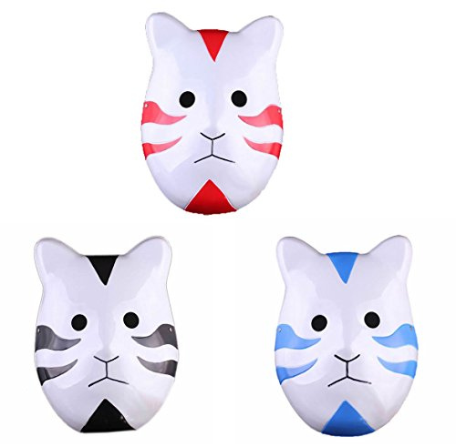 XCOSER Halloween Kakashi Anbu Mask Cosplay Accessory 3 pcs set
